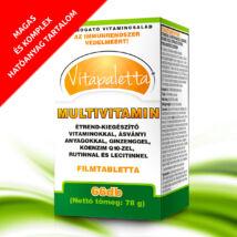 Vitapaletta Multivitamin vitaminokkal, ásványi anyagokkal, ginzenggel, koenzim Q10-zel, rutinnal és lecitinnel étrend-kiegészítő készítmény 66x