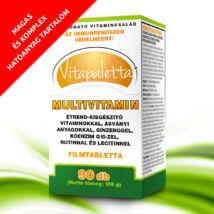 Vitapaletta Multivitamin vitaminokkal, ásványi anyagokkal, ginzenggel, koenzim Q10-zel, rutinnal és lecitinnel étrend-kiegészítő készítmény 90x